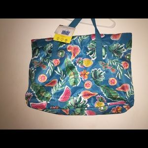 Pineapple and watermelon xl beach bag